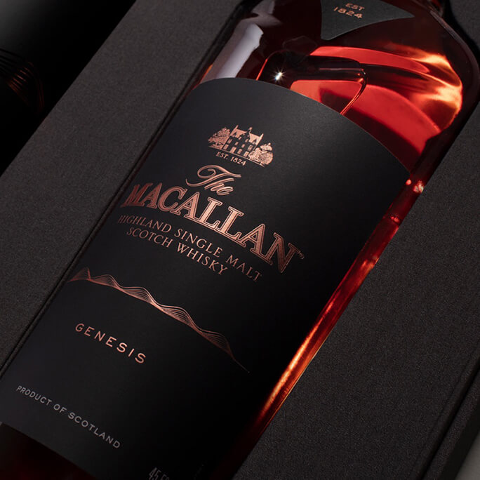 A bottle of the Macallan whiskey